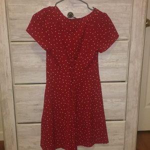 Red polka dot summer dress